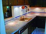 Столешница для кухни из оникса
